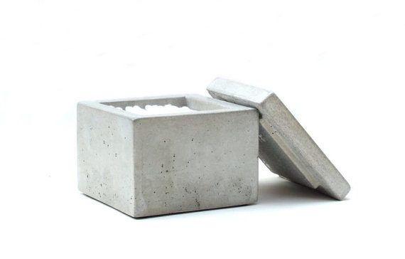 Concrete Q-Tip holder