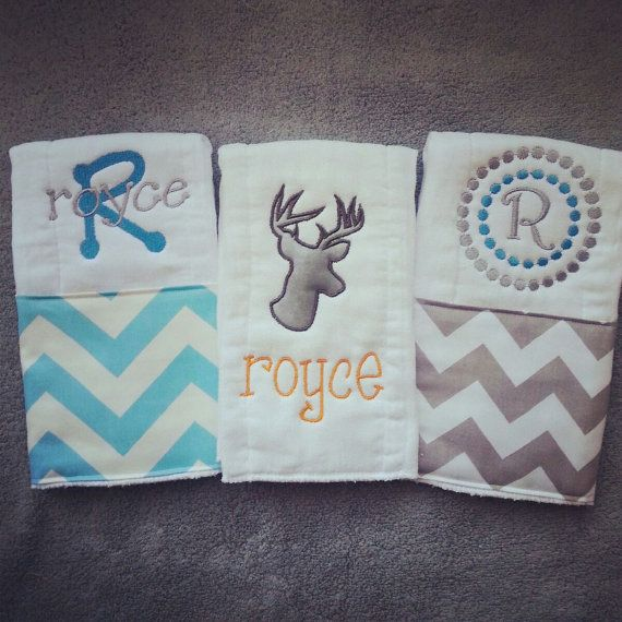 Hey, I found this really awesome Etsy listing at https://www.etsy.com/listing/176605516/personalized-baby-burp-cloths-deer