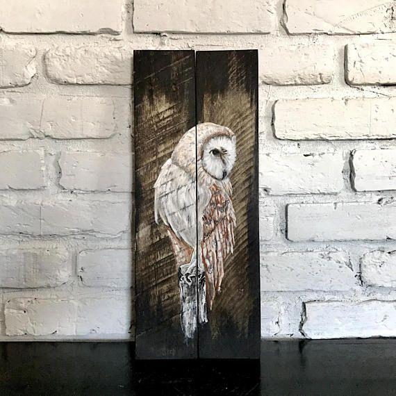 PALLET ART - Owl Wall Art - Rustic Bird Decor - Cabin Decor - Owl Art - Pallet Wall Art - Owl Decor - Bird Art - Owl Wall Decor - Bird Decor - Pallet Wall Decor - Rustic Wall Decor - Rustic Wall Art - Rustic Bird Art ---------------------------------------- • Original Art •