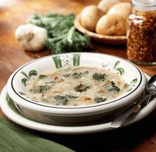 Zuppa Toscana - figure friendly.  Make with chicken or turkey sausage and try with the low or non-fat half & half.  It tastes just like the Olive Garden one, but healthier and not bad for you!