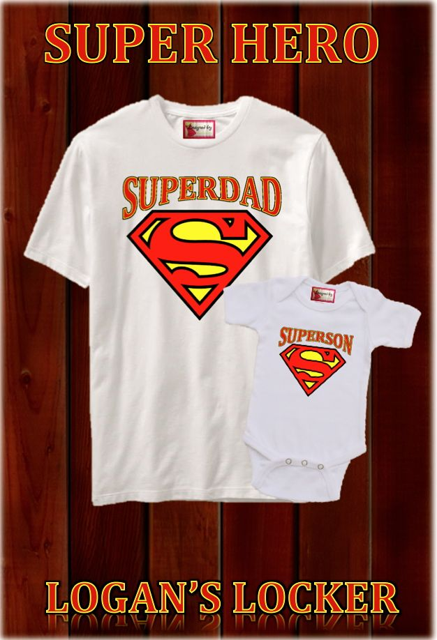 Super+Dad+T-Shirt+and+Matching+Onesie/Toddler+Shirt+-Great+t-shirt+for+daddy/kids+t-shirt+set.+Perfect+father's+day+gifts+for+dads.+Matching+super+kids+t+shirts+available+in+our+shop+for+Moms+and+kids.  Sizes:+S,M,LXL  Baby:+Newborn,+0-3,+3-6,+6-12,+18.+24+months  3t+4t,+5t