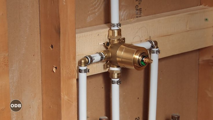 How To Install Copper To Pex Shower and Bath Plumbing