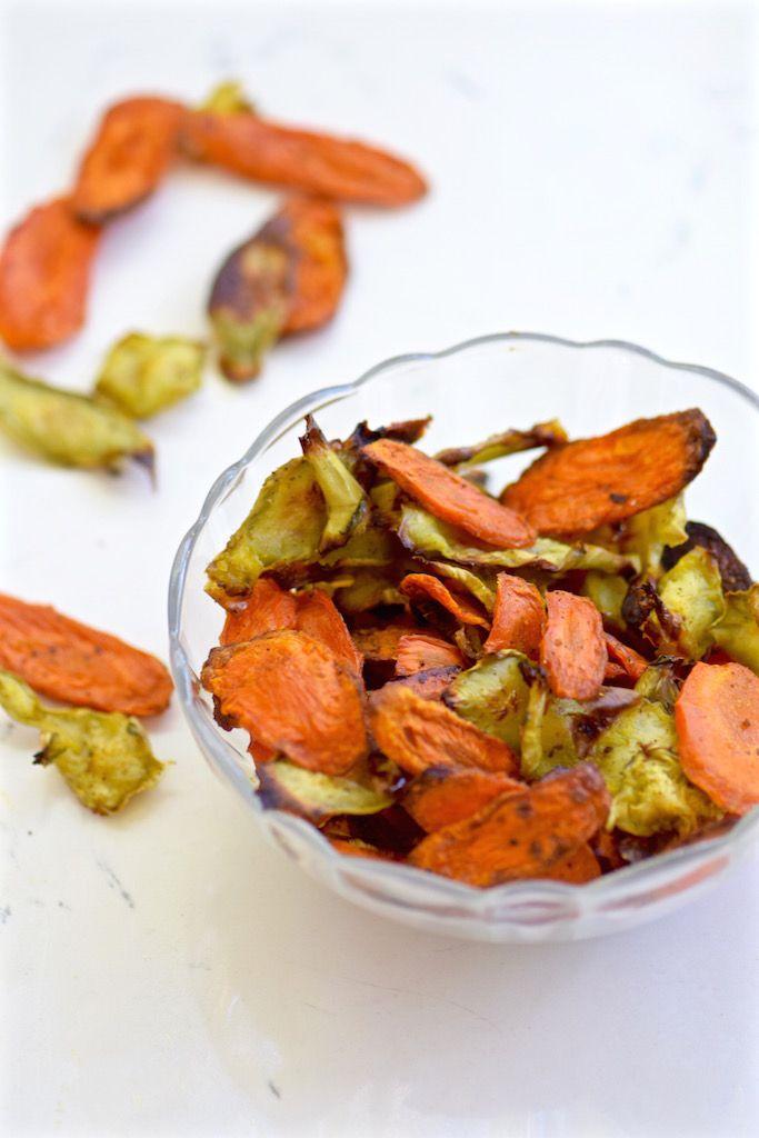 Carrot and Broccoli Chips | TastingPage.com