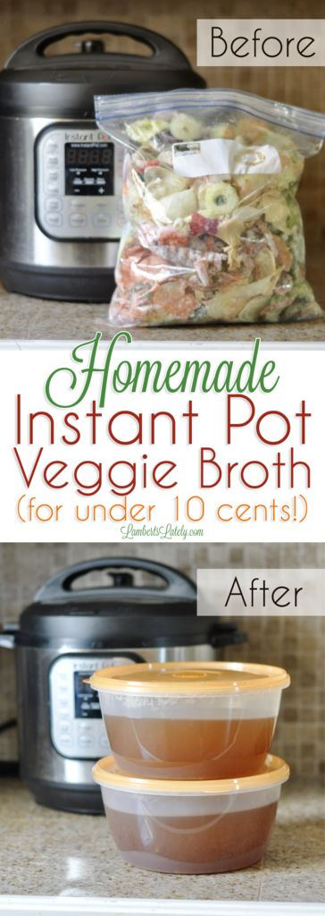 Veggie / Vegetable Broth for Instant Pot from Scraps || Paleo Vegan Whole 30 || Stock Carrot Celery Onion Bell Pepper Squash || Recipe for Soup || Cheap Dinner Idea