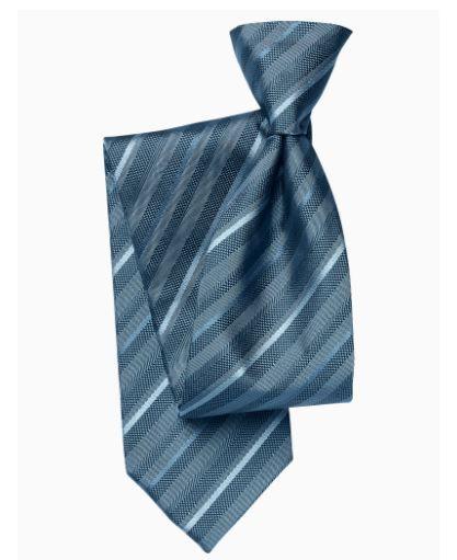 Auto Cravate Noeud Papillon - Petit, Paisley Ton Sur Ton Tombe Dans L'encoche Bleu Acier