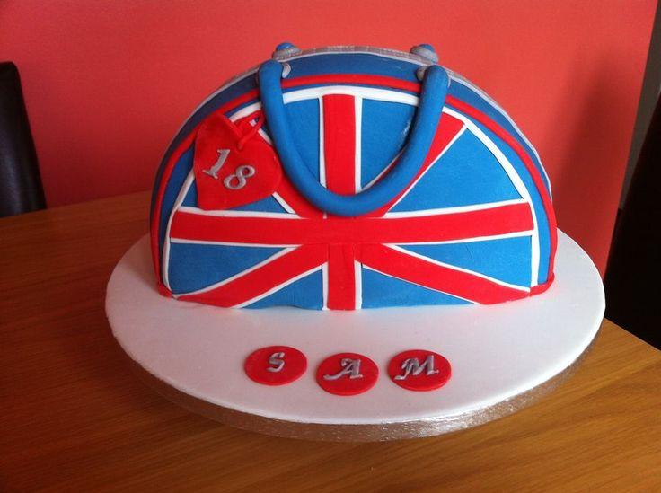 Union Jack Handbag Cake
