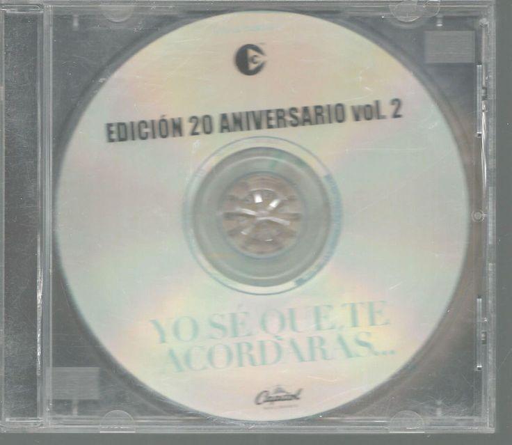 Yo Se Que Te Accordaras Spanish Vol 2, 1999 Edicion 20 Anniversario Capital  #RockenEspaol