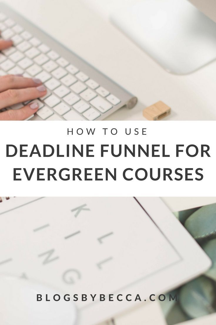 How to add urgency to your evergreen course with Deadline Funnel! Deadline Funnel is a great blog tool for your course! Perfect for bloggers and course creators. Click to get the scoop! via @blogsbybecca