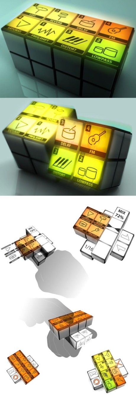 Rubik's cube controller    #electronicmusic #synthesizer #instruments…