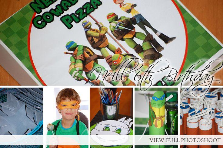 6 Year Birthday Party Photoshoot  - COWABANGA Ninja Turtles