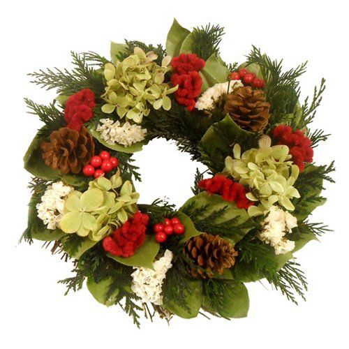 Have to have it. Holiday Fields Wreath - $54.99 @hayneedle