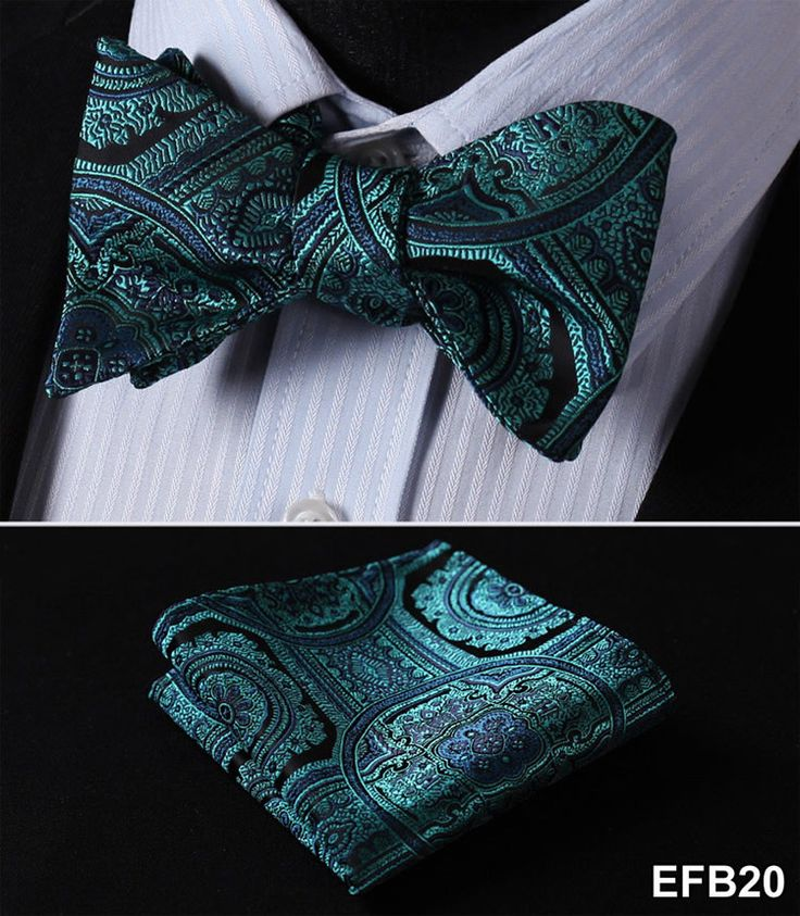 Self tie bow tie - Light turquoise with tonal chevron pattern Notch BxZ8xYVjnF