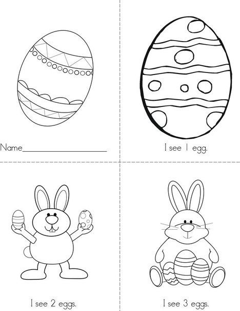 Easter Colouring Pages For Kindergarten : 17 best images about easter coloring pages worksheets mini books