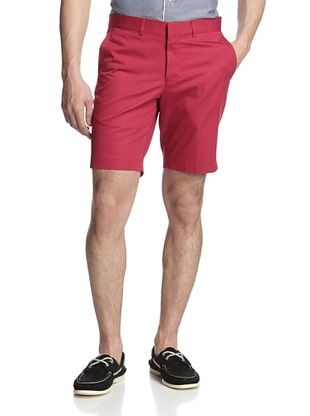 64% OFF Simon Spurr Men's Solid Tailored Short (Red)