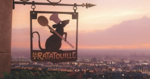 Ratatouille is my favorite Disney Pixar film besides Toy Story! Food and European travel! 🍞🧀🍐🍕🍝🍩🍰🐀✈️🌎