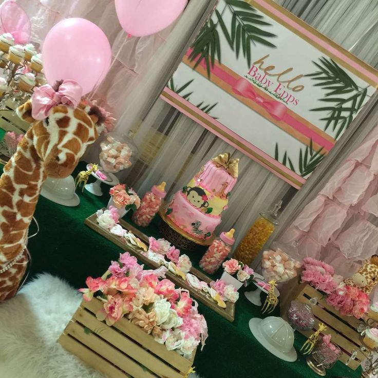 Safari themed baby shower  party! See more party ideas at CatchMyParty.com!