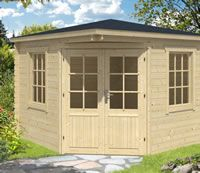 <p> The 28mm Asmund Corner Log Cabin measuring 3.0 x 3.0m, an extremely popular model designed to slot…