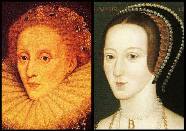 О портретах Анны Болейн.Елизавета и ее мать-Анна Болейн.