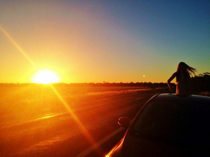 Sunset on the Nullarbor Plain, SA