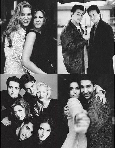 Friends: Chandler, Joey, Ross, Monica, Phoebe & Rachel. ♥