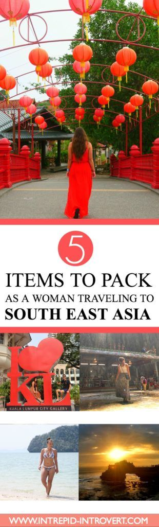There are always 5 things I pack as a woman traveling to South East Asia; I call them my Fundamental Five! Click here to see what they are!