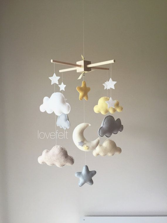 baby mobile cloud mobile clouds and stars by lovefeltmobiles