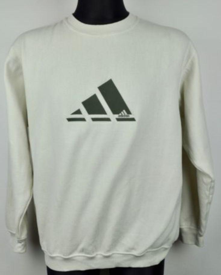 FOR SALE: ADIDAS vtg Huge Old Logo Navy Jumper Medium Men's Spellout Sweatshirt M Big Top