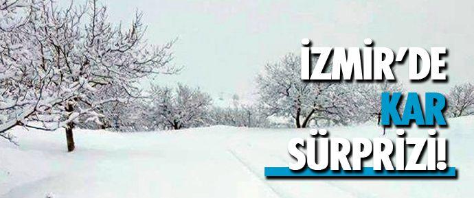 İzmir'in Tire ilçesinin dağlık kesimlerine dün gece saatlerinde kar yağdı.