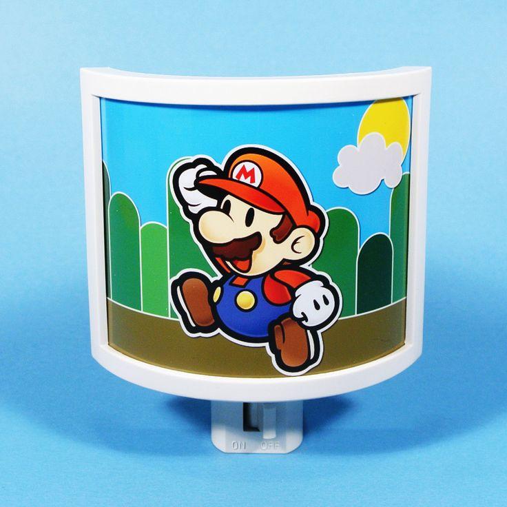 Super Mario Night Light cute nursery bathroom hallway bedroom TAKE IT with. $18.00, via Etsy.