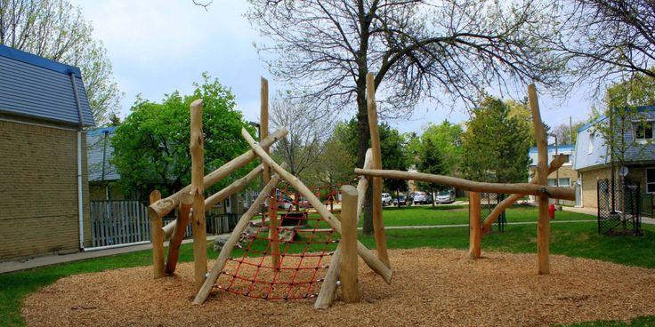 playground equipment ontario, waterloo park playground, waterloo natural play, public playground, playable sculpture