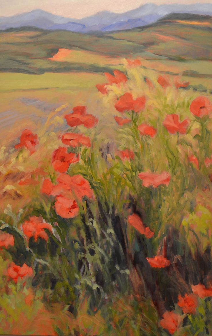 Ann rhodes poppies boiling over atlanta buckhead for Atlanta oil painting artists