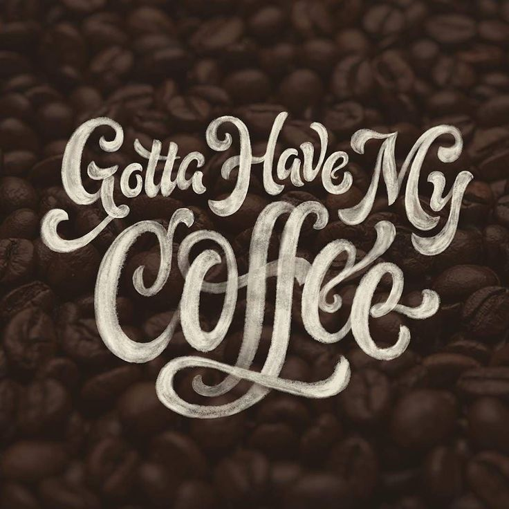 Coffee coffee coffee. Type by @raymawst - #typegang - typegang.com | typegang.com #typegang #typography