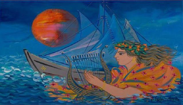 ...τέτοιο τρελό βαπόρι τρελοβάπορο  Χρόνους μας ταξιδεύει δε βουλιάξαμε  χίλιους καπεταναίους τους αλλάξαμε  Κατακλυσμούς ποτέ δε λογαριάσαμε  μπήκαμε μεσ' στα όλα και περάσαμε  Κι έχουμε στο κατάρτι μας βιγλάτορα  παντοτινό τον Ήλιο τον Ηλιάτορα!»   «Το τρελοβάπορο»Ο>ΕΛΥΤΗΣ