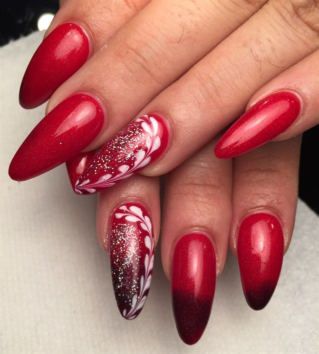 Day 45: Valentine's Day Nail Art