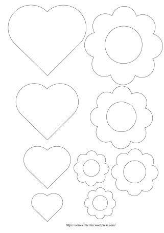 Gabarits coeurs et fleurs