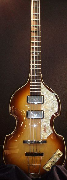 """A Höfner 500/1 """"violin bass"""" similar to the one used by Paul McCartney"""