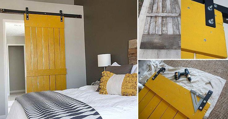 366 best images about palets on pinterest mesas pallet - Como hacer una puerta rustica ...