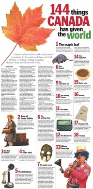 Love it! 144 things Canadians have given to the world. From http://thespec.com.