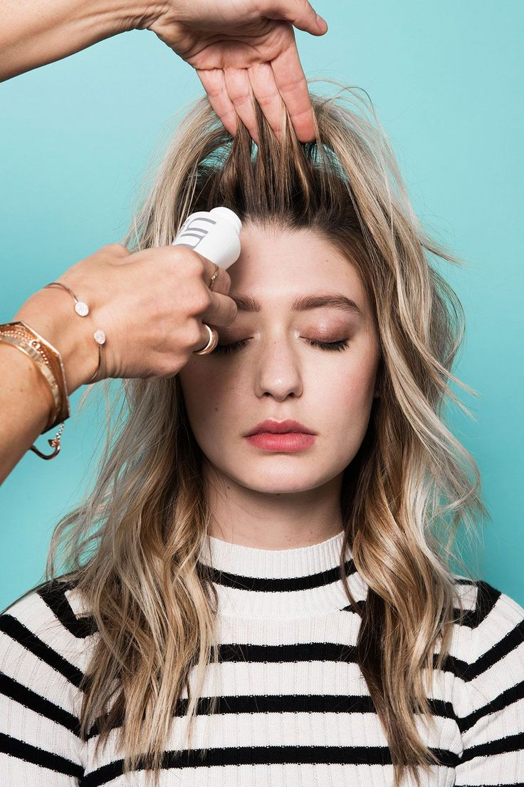 The Secret Behind An L.A. Salon's Signature Waves #refinery29  http://www.refinery29.com/2016/03/105014/riawna-capri-waves-hairstyle-pictures#slide-10  Once all the curls are totally cooled, use one hand to lift the front section and the other to squeeze a few puffs of teasing powder into the roots. They're all basically the same, but Capri favors Unite's Expanda Dust because you can squeeze the soft bottle to get a cloud of product, as opposed to shaking...