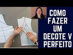 DIY- Como fazer um Decote V Perfeito - YouTube
