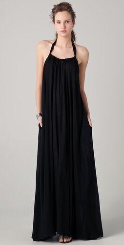 Hunt for black maxi: Riller & Fount India Gathered Halter Maxi Dress