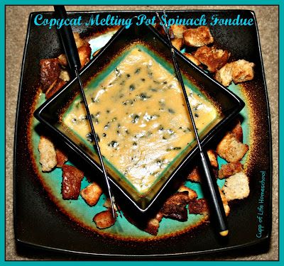 Cupp of Life: Pinterest Challenge #40 - Copycat Melting Pot Spinach Fondue