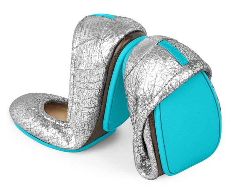 Tieks Silver Screen - Shiny Metallic Ballet Flats | Silver Screen Tieks will have you ready for any red carpet (or sidewalk) that comes your way. On the run or having fun, these sparkling flats transition seamlessly from day to night, and their lustrous shine is sure to be the perfect finishing touch to any outfit.