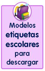 materiales educativos, modelos de etiquetas escolares para descargar gratis