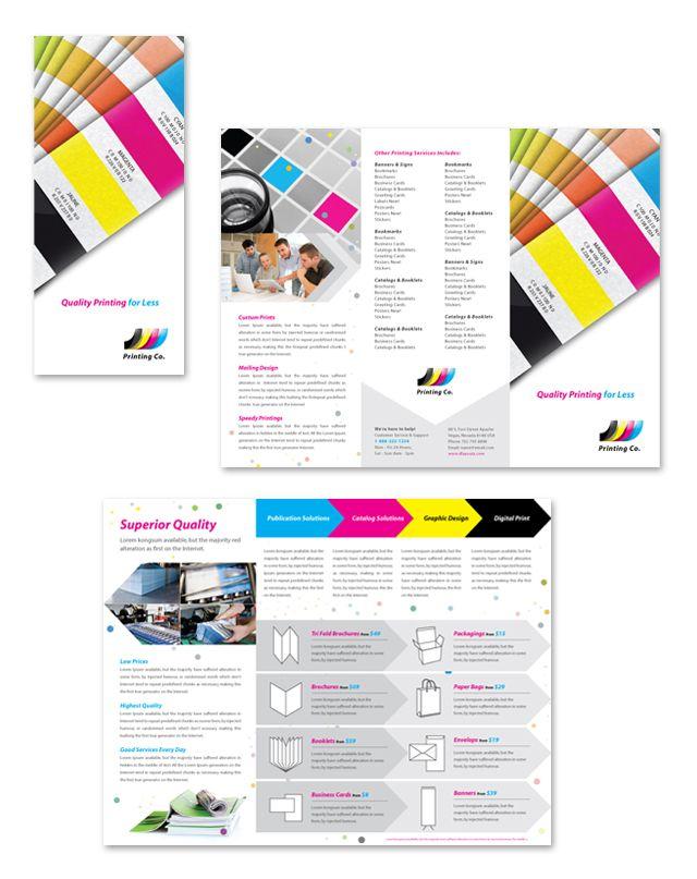 printing company tri fold brochure template ups branding ideas