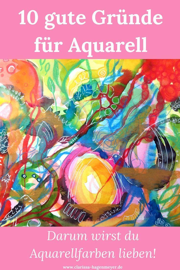 10 Grunde Fur Aquarellfarben Und Aquarellmalerei Zeichnungen Ideen