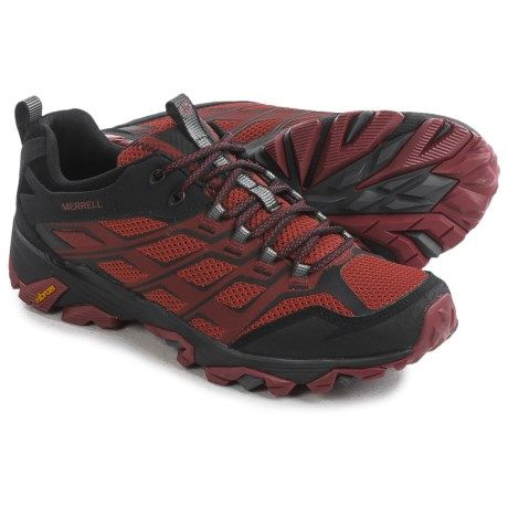 Merrell Moab FST Hiking Shoes (For Men) in Burgundy/Black