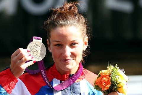 GB Silver medallist Lizzie Armitstead. The first of many medals to come