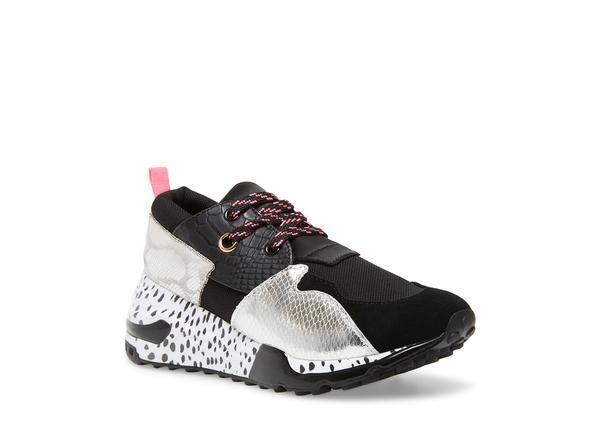 Cliff black/silver   Sneakers fashion