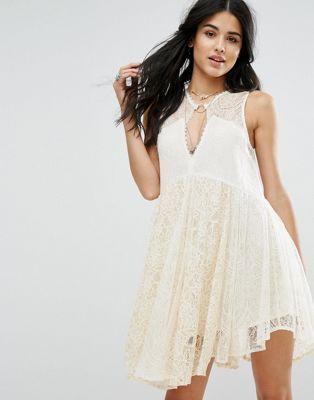 Кружевное платье мини Free People Don't You Dare
